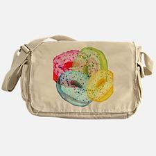 Rainbow Donuts Messenger Bag