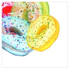 Rainbow Donuts Poster