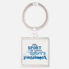 Sport Punishment blue Square Keychain