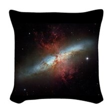 Cigar Galaxy-M82- Galaxy Woven Throw Pillow