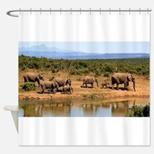 Wild Elephant Shower Curtain