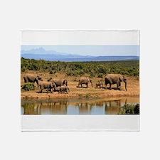 Wild Elephant Throw Blanket