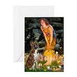 Fairies & Boxer Greeting Card