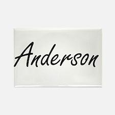 Anderson surname artistic design Magnets