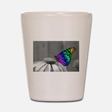 Flower with Butterfly Shot Glass