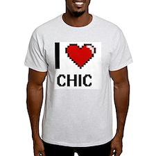 I love Chic Digitial Design T-Shirt