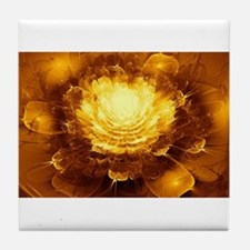 Golden Art Tile Coaster