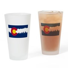 Unique Colorado flag Drinking Glass