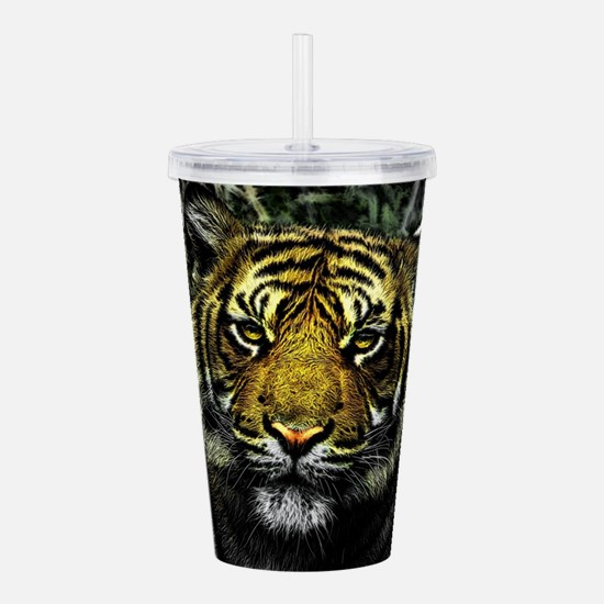 Tiger Acrylic Double-wall Tumbler