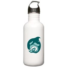 killer whale by asyrum Water Bottle