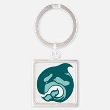 killer whale by asyrum Keychains