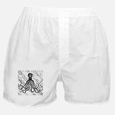 vintage nautical steampunk octopus Boxer Shorts
