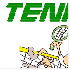 TENNIS IT'S CHEAPER THAN THERAPY Poster