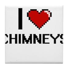 I love Chimneys Digitial Design Tile Coaster