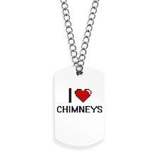 I love Chimneys Digitial Design Dog Tags