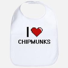 I love Chipmunks Digitial Design Bib