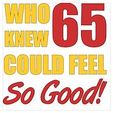 Fun 65th Birthday Poster