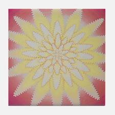 Zipper Flower Tile Coaster