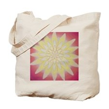Zipper Flower Tote Bag