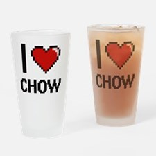 Chow mix Drinking Glass