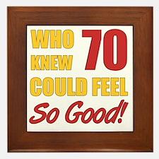 Fun 70th Birthday Framed Tile