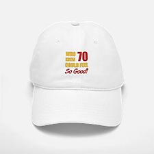 Fun 70th Birthday Baseball Baseball Cap
