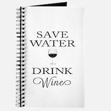 Save Water Drink Wine Journal