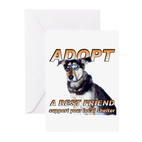 Adopt Best Friend Greeting Cards (Pk of 20)