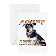 Adopt Best Friend Greeting Card