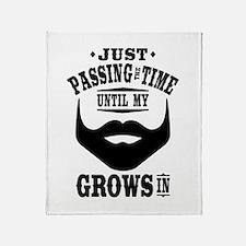 Funny Beard Throw Blanket