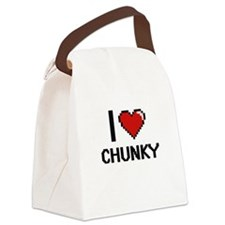 I love Chunky Digitial Design Canvas Lunch Bag