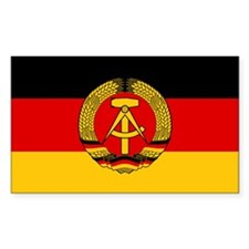 Flag of East Germany Rectangle Decal