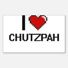 I love Chutzpah Digitial Design Decal
