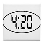 4:20 Digital Tile Coaster
