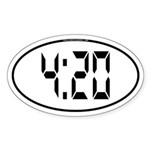 4:20 Digital Sticker (Oval)