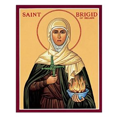 St. Brigid of Ireland Unframed Print