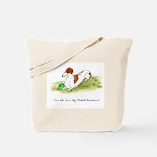 Love Me, Love My Piebald Dox Tote Bag