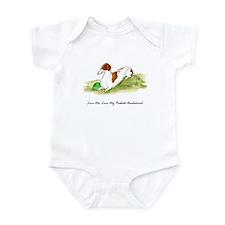 Love Me, Love My Piebald Dox Infant Bodysuit