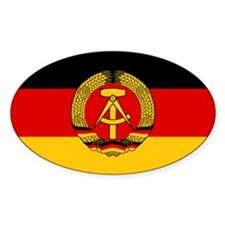 Flag of East Germany Oval Decal
