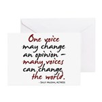 One Voice Greeting Cards (Pk of 10)