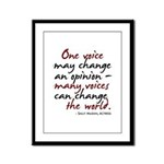One Voice Framed Panel Print