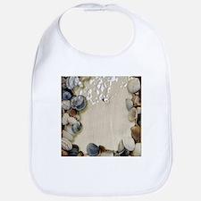 summer ocean beach seashells Bib