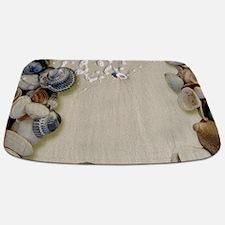 summer ocean beach seashells Bathmat