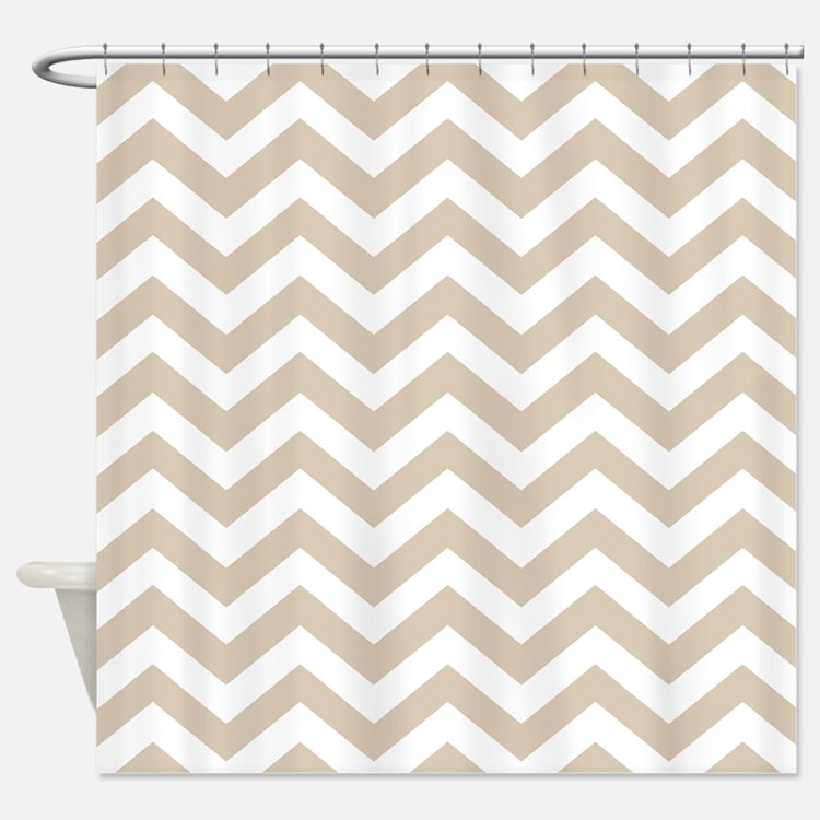 Chevron Shower Curtains tan white chevron shower curtains | tan white chevron fabric
