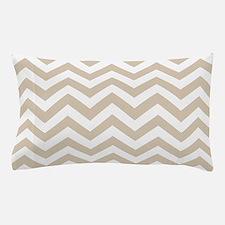 Beige (Khaki) Chevron Pattern Pillow Case