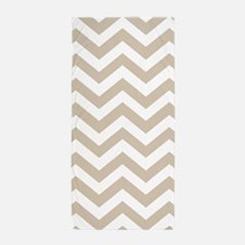 Beige (Khaki) Chevron Pattern Beach Towel