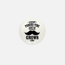 Mustache Mini Button (100 pack)