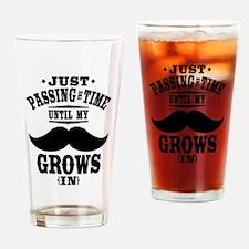 Mustache Drinking Glass