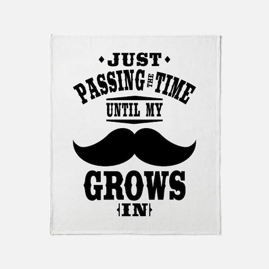 Mustache Throw Blanket