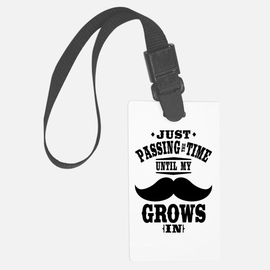 Mustache Large Luggage Tag